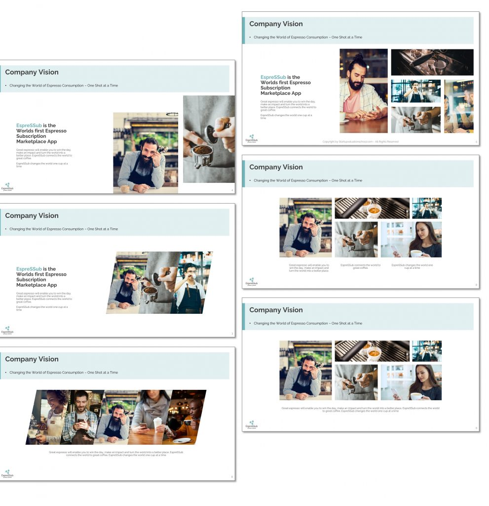 The SVS Ultimate Financial Pitch Deck Template - Versions per Layout